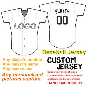 2020 Erkekler Kadınlar Gençlik Custom Beyzbol Jersey Herhangi İsim Herhangi Numara Nakış Teknoloji Yüksek kaliteli ve ucuz