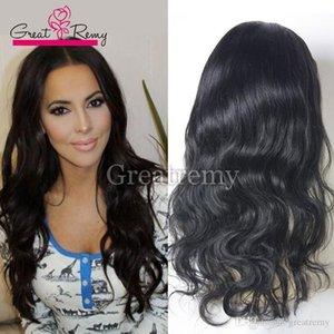 흑인 여성을위한 새로운 스타일의 100 % 처리되지 않은 인간의 머리 전체 레이스 가발 저렴한 인간의 머리 레이스 큰 레미 가발