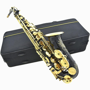 Brand new high quality Alto saxophone Black gold key saxophone All accessories are complete.