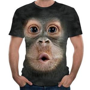 Футболки 3D Men Summer Printed животных футболка с коротким рукавом Забавный дизайн Повседневный Топы Тис Мужчины T-Shirt США Размер S-3XL