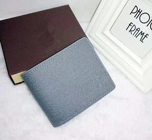 Paris решетчатых стиль дизайнер мужской бумажник известных людей роскошный бумажник специальный коровья кожа несколько коротких двух раз бумажники с рамкой