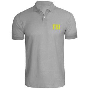 Camicie Uomo Fbi agente federale ricamato Polo
