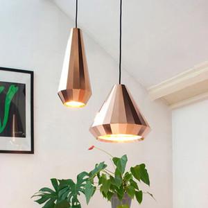 İskandinav Modern Tasarımcı Gül Altın Cam Kolye Işık avize aydınlatma Salon Loft Dekorasyon Odası Yemek Odası Oturma Odası için LED ışıkları