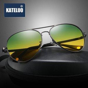 KATELUO 2020 Day Night Vision Goggles Mens Photochromic Sunglasses Anti-glare Glasses for Driving Polarized Car Glasses 7759