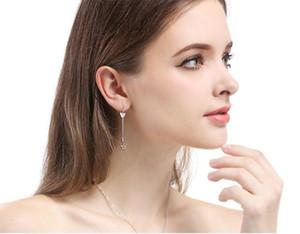 top femmes de qualité S925 boucles d'oreilles en argent sterling SS925 femmes boucle d'oreille Boucle d'argent de bijoux de mode de pompons fait