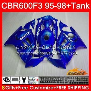 Parlak mavi Fairing Beden + Tank HONDA CBR 600F3 için 600cc CBR600 F3 95 96 97 98 41HC.120 CBR 600 FS F3 CBR600FS CBR600F3 1995 1996 1997 1998
