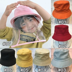 7 color kids Anti-Spitting Protective hats Dustproof Cover Peaked cap detachable Anti Drool Splash-Proof Conjoined fisherman hat FJJ286
