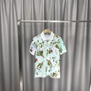 2020 flores impresas verano del polo de los hombres y de las mujeres de manga corta de la camiseta de Casual Male camisa de polo Ropa Tops T zdl0611.