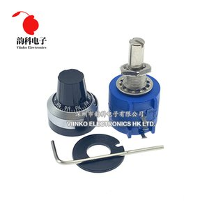 lectronic Components & Supplies 3590S-2 3590S Series Precision Multiturn Potentiometer 10 Ring Adjustable Resistor + 1PCS Turns Counting ...