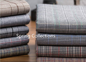 145 * 100cm coton teint de haute qualité welsh tissu de contrôle de poule pour un pantalon de manteau de vêtements mode couvrir tissu handwork 240g / M