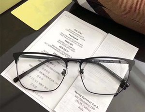 Качество Звезда BE1317 мужчины металл большой оправы Glasses55-17-145Contrasted бизнес квадратные брови Fullrim для рецепта очки fullset случае