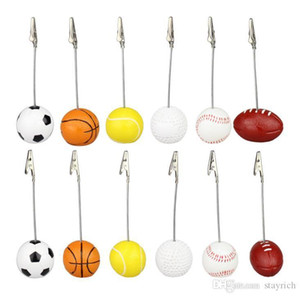 Sport Ball Photo Clip Alligator Wire Card Memo Photo Clip Holder Table Place Card Holder Event Party Favor 100Pcs