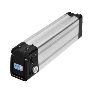 Unten entladen Sie das Qualitätsfahrrad, das elektrische Fahrradbatterie 48V 17AH silberne Fischbatterien für 350W bis 1000W Motor + Ladegerät faltet