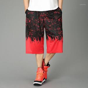 Calças Mens Fashion Casual Jogging shorts soltos Contraste Mens Cor Designer Shorts Painéis de Fitness Sports Runing curtas