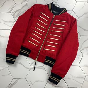 Rhude Lauren18FW Yün Coat Süper Yüksek Kalite Kumaş Deri Sanskritçe Metin Detay Erkekler Kadınlar Tasarımcı Jacket Greg Amiri