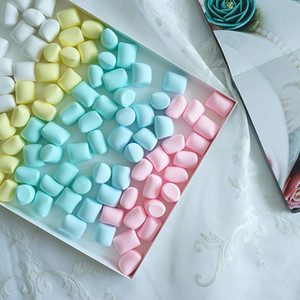 Simulated marshmallow Cute photography background props Simulation candy Home softcover