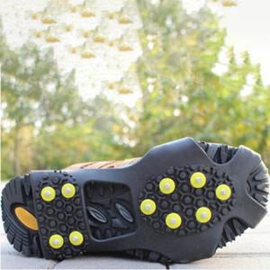 Ayakkabı Üzeri 10 Studs Evrensel Anti-Skid Kar Buz Tırmanışı Ayakkabı Spike Sapları Kramponlar Kramponlar galoş Kramponlar Gripperler Kaymaz