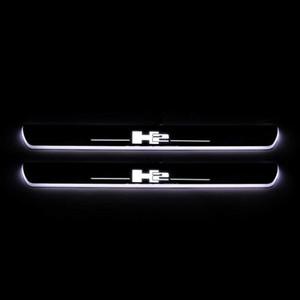 الانتقال LED ترحيب دواسة السيارة جرجر لوحة دواسة عتبة الباب المسار الضوء على HUMMER H2 2004-2009