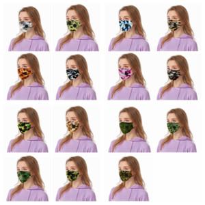 Çiçek nefes valfi Anti Toz Face ile nefes Maske maske kamuflaj Yeniden kullanılabilir Yetişkin maskeleri YYA142 maske