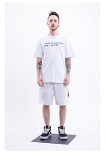 Nouveau mode Shred Triangle Lettre Imprimer Coton T-shirt respirant et confortable européen et américain T-shirt Style décontracté