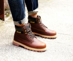 2019 Kış Marka Tasarımcı KEDI Çizmeler erkek Açık Martin çizmeler deri Yardım Yardımcı Açık Sıcak Çizmeler KEDI Spor Ayakkabı rahat Ayakkabı Boyutu 39-44