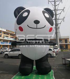 Atraente Panda inflável 5m Altura Blow Up Panda bonito com saco para loja Decoração New Design Panda inflável gigante China