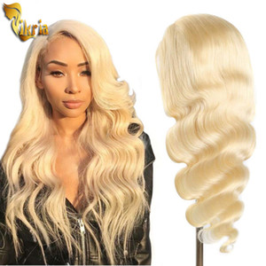 Glueless #613 Blonde Lace Front Human Hair Wigs Brazilian Body Wave Full Lace Wigs Pre Plucked Natural Hairline With Baby Hair For Women