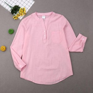 New Women Ladies Sport Long Sleeve Cotton Linen Yoga Shirt Tops Autumn Spring Female Solid Long Shirts Plus Size