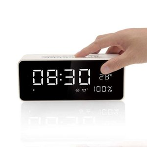 Fm Radio Alarm Clock With 8 Inch Dimmable Large Led, Usb Charger Port, Rechargeable Battery Backup, Sleep Timer,Temperature Di