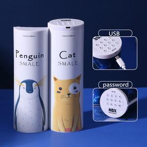Большая емкость Cat Пенал Estojo Escolar NBX Электронный Password Lock Pencil Box Многофункциональный Школьные принадлежности Pencilcase