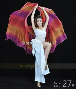 Belly dance veils Colorful shaw silk scaw 250 * 120 mm for belly dance veils