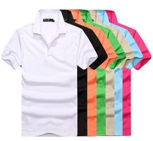 Nuovo S-6XL Polo Camicia da uomo in coccodrillo Ricamo Solido Polo Manica Corta da Uomo Casual Polo T Shirt da Uomo Spedizione Gratuita di buona qualità