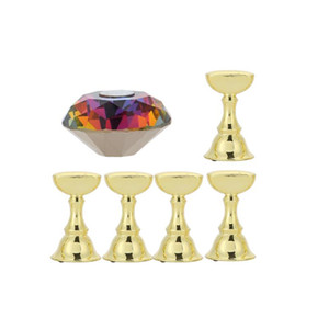 Exquisite And Durable Nail Holder False Nail Tip Practice Stand Crystal Magnetic Bottom Base Holder Art Display Manicure