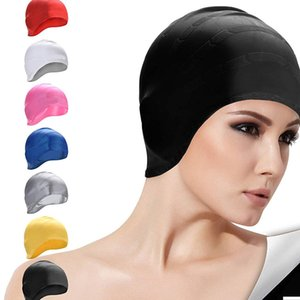 FangNymph Swimming Water Sports BOIHON Silicone Swimming Caps Women Long Hair Swim Hat Cover Protect Ears Sports Pool Cap