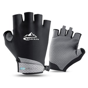 Half-finger cycling gloves golf outdoor sports sunscreen summer fishing sweat-absorbent breathable cold ice thin gloves