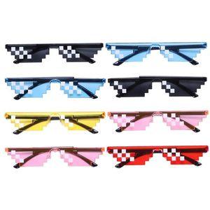 Creative Mosaic Sunglasses Trick Toy Thug Life Glasses Deal With It Glasses Pixel Women Men Black Mosaic Sunglasses Toy