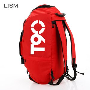 LISM 2019 New Men Sport Gym Bag Women Outdoor Waterproof Fitness Bags Separate Space for Shoes Pouch Rucksack Hide Backpack
