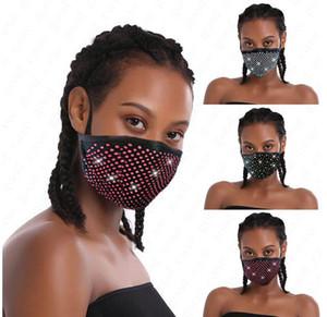 Новая мода Алмазный Bling Bling моющийся многоразовый маска РМ2,5 Face Shield ВС Дрель Блестящая Face Cover Рот Маски Противопыльный Рот-муфельной D6816