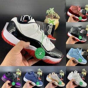 Nuovi 11 11s scarpe da basket Jumpman nuovo minimo bianco allevato ereditiera notte marrone pantone allevati Concord formatori 45 bassi di agrumi uomini donne Sneakers
