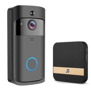 Atualizar em 2020 video sem fio Doorbell Infrared Night Vision Camera Doorbell IP5 câmera de segurança WiFi Waterproof HD para o preto iOS Android