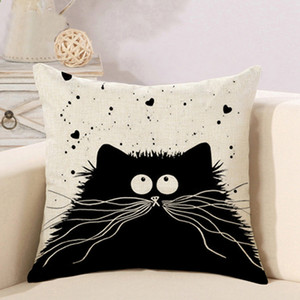 Wholesale Cute Totoro Cartoon Cat Pillow Case 6 Colors Single-sided Printing Customizable Home Linen Bedroom Sofa Pillowcase DH0572 T03