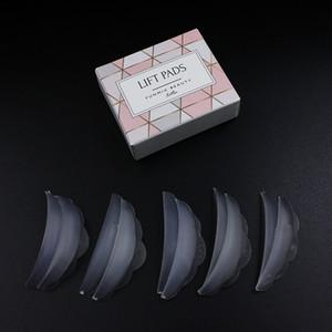 funmix 5 Paare von heißem Silikon Wimpern weichen Haar pad sunflower Kante Wimpern Aufkleber gebogen Wimpernschutzmittel