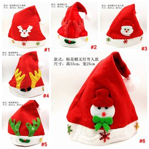 Kids Festival Hat snowman elk sequins Santa Claus Hats Long Plush Cloth Child Christmas party Holiday Xmas beanies cap LJJA3328