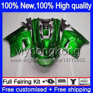 ZZR1100 Para KAWASAKI ZX11 ZZR 1100 1993 1994 1995 1996 1997 208MY.0 ZZR1100 ZX 11R ZX11R 93 01 ZX11R 93 94 95 96 97 Carenado Green llamas