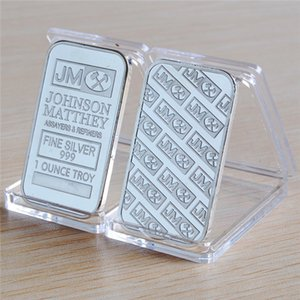 1 oz Johnson Matthey Silver Bar silvering Plated Coin JM Silver Bars