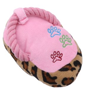 3 Colours Soft Plush Slipper Squeaky Sound Toy Pets Dog Chewing Play Toys Shoes Shape For Pet Dogs Cats