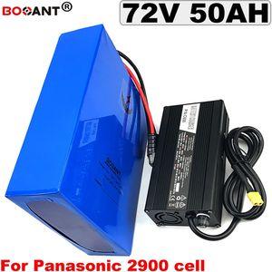 72V 50Ah 5000w batterie de vélo électrique pour pile au lithium E-vélo cellule Panasonic 18650 72V 30Ah 40Ah 3000w + 5A Chargeur + 100A BMS