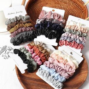 Nova mulher Scrunchie Cabelo Hairbands Tie Mulheres para Portadores Acessórios Satin Hair Scrunchies estiramento de-cavalo Handmade presente Heandband