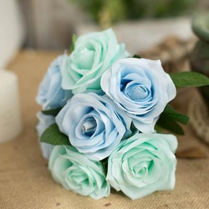 Artificial Rose Flower Bouquet Home Office Table Centerpiece Silk Cloth Fake Flower Floral Decor Wedding Home Decoration