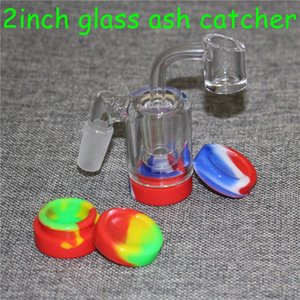 14mm Male 90 Degree Glass Ash Catcher with 4mm 14mm quartz bangers nails for Glass Water Pipes Bongs Oil Rigs Glass Pipe